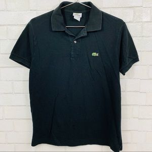 LACOSTE MENS BLACK POLO SHIRT SIZE 4